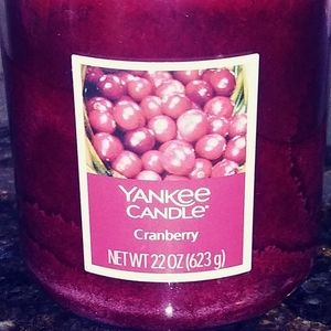 Yankee Holiday Cranberry Candle 22 oz New NWT